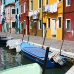 """Burano Corner with Laundry"" by DonnaCorless"