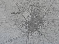 Plan of Milan, Italy