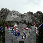 """Mount Rushmore with Flags"" by 1blessedmom"