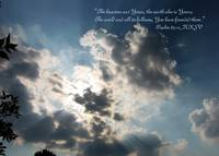 Psalm 89:11 ~ The Heavens are Yours