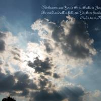 Psalm 89:11 ~ The Heavens are Yours Art Prints & Posters by Debbie Hostetler