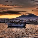 """Morning Seagull over Vesuvius"" by stuckincustoms"
