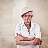 Old man of Portuguese descent in Malaysia