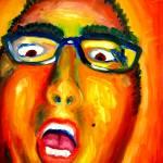 """Intense Self Portrait"" by dmannsart"