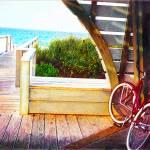 ocean boardwalk with bike