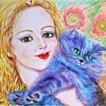 """Blue Cat"" by ArtlbyYelena"