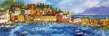 Sestri Levante Bay of Silence Oil Painting