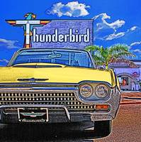 1962 Ford Thunderbird at Thunderbird Motel