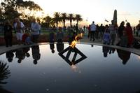 Anzac Day service Eternal Flame, Kings Park
