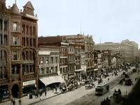Market Street from 3rd to 4th, San Francisco 1905 by WorldWide Archive