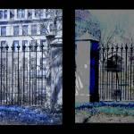 """Diptych Botany Pond Fence, University of Chicago"" by LeonSarantosArtist"