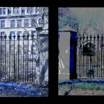 """Diptych Botany Pond Fence, University of Chicago"" by LeonSarantosArtist"