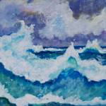 """Stormy Sea"" by paintingsbygretzky"