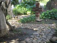 Old Stone Path and Brick Cross