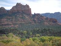 Nice vegetation and red rock, Sedona