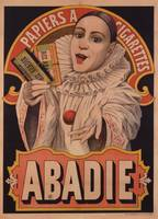 Poster advertising Riz Abadie Cigarette Papers, pr