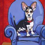 """Queen Lucy: Rat Terrier"" by brightwoods3"