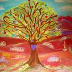 """Sonoran Tree of Hearts"" by debbiepaints"