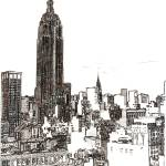 """New York City Empire State Building Midtown by Ric"" by BeaconArtWorksCorporation"