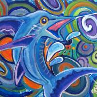 Abstract Marlin Art Prints & Posters by Paintings by gretzky