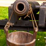 """wooden cannon and water bucket"" by Dalyn"