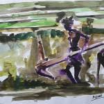"""A Lone Farmhand"" by AbinRaj"