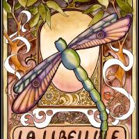 La Libellule Art Prints & Posters by Peg Lozier