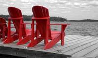 Red Muskoka Chairs 2