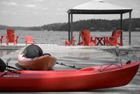 Red Kayak, Red Chairs
