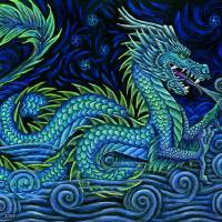 Chinese Dragon Art Prints & Posters by Rebecca Wang