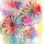 """Tie Dye Daisies"" by awagner"