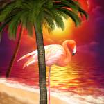 """Tropical Paradise Flamingo Beach"" by UnderTheSea"