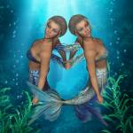 """Mermaid Twins Under The Sea"" by UnderTheSea"