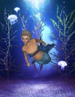 Mermaid Lily Under The Sea
