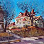 """Victorian Houses Allston"" by AngeloJAversa"