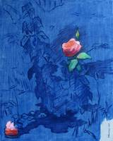 The Rose Against a Blue Background