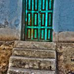 """hdr green door near chivay"" by gruntpig"