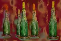 Five Candled Bottles