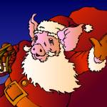 """Jolly Old Saint Nickopig"" by lesteryocum"