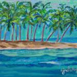 """Palm Tree Island"" by paintingsbygretzky"