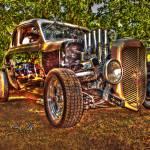 """35 Black and Tan Ford Coupe"" by chassinklier"
