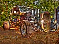 35 Black and Tan Ford Coupe