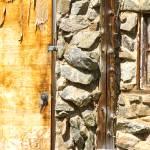 """Old Wood Door Window and Stone"" by lightningman"