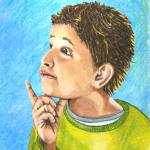 """thinking-boy"" by Brightwood"