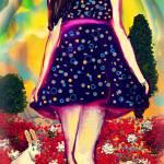 """Girl Spoted Dress"" by lamashuka"