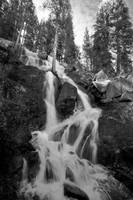 Tioga Pass - waterfall (B&W)