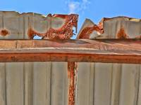 Rusty Roof and Sky