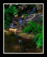 Japanese Garden Waterfall 02