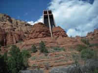 Chapel built into Red rocks  of Sedona