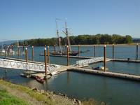Tall ship moored at the Marina, St Helens, Oregon,